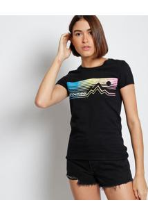 """Camiseta """"Levi'S® Califórnia"""" - Preta & Brancalevis"""