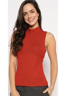 Blusa Canelada Com Tag - Vermelha - Sommersommer