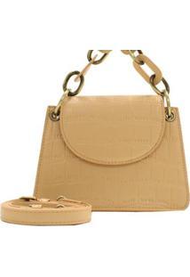 Mini Bolsa Croco Fashion Birô Feminino - Feminino