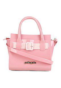 Bolsa Petite Jolie Love Bag Feminina - Feminino-Rosê