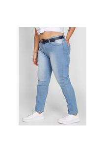 Calça Jeans Planet Girls Skinny Estonada Azul