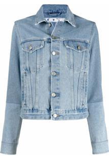 Off-White Jaqueta Jeans Com Abotoamento - Azul