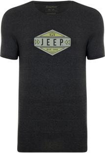 Camiseta Jeep Gas Mescla Preta