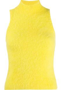 Versace Blusa De Tricô Sem Mangas - Amarelo