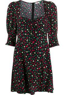 Rixo Vestido Larissa Com Estampa Floral - Preto