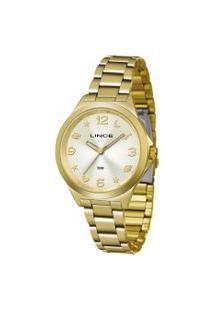 Relógio Analógico Lince Feminino - Lrgj089L C2Kx Dourado