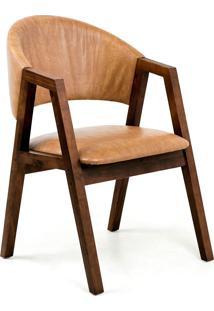 Cadeira Estofada Rústica Mali-Mappin - Canela