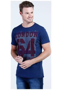 Camiseta Masculina Estampa Frontal Manga Curta Aguia Tex