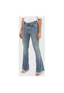 Calça Jeans Dudalina Flare Demi Curve Azul
