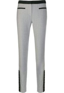 Karl Lagerfeld Calça De Alfaiataria Slim - Cinza