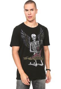 Camiseta John John Rocker Skull Preta