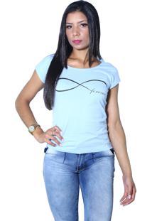 Camiseta Heide Ribeiro Forever Azul Claro - Multicolorido - Feminino - Dafiti