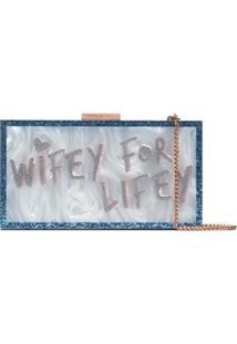 Sophia Webster Wifey For Lifey Clutch Bag - Azul
