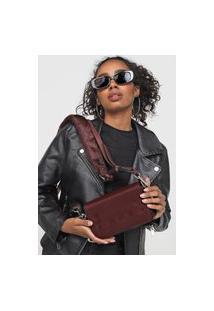 Bolsa Ellus Crossbody Bag Stripes Vinho