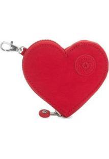Porta-Moedas Kipling Heart S Kh Pouch - Feminino-Vermelho