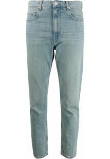 Isabel Marant Étoile Calça Jeans Cropped Neaj Com Cintura Alta - Azul
