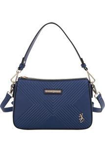 Bolsa Transversal Texturizada- Azul Marinho- 18X28X8Fellipe Krein