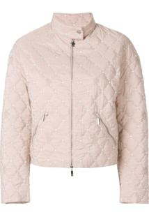 Moncler Jaqueta Cropped - Rosa
