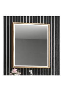Armário Aéreo 100%Mdf Banheiro 01 Porta Com Espelho Gael Branco Nogal Lilies Móveis