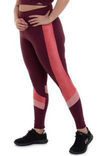 Calça Legging Plus Size Nz Emotion Cajubrasil Feminina - Feminino-Bordô