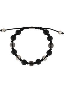 Nialaya Jewelry Pulseira Com Aplicação De Contas - Preto