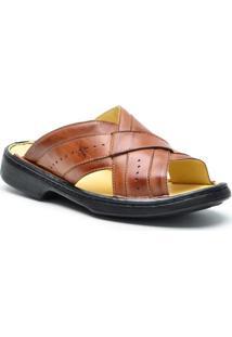 Sandália Dr Shoes Conforto Masculino - Masculino-Cafe