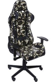 Cadeira Office Gamer- Verde & Preta- 135X60X51Cmor Design