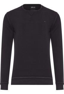 Camiseta Masculina Piquet - Preto