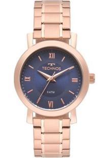 Relógio Technos Rosé Elegance Feminino - Feminino-Rosa