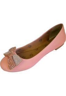 Sapatilha Scarpe Bico Redondo Rosa