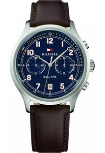 Relógio Tommy Hilfiger Masculino Couro Preto - 1791385