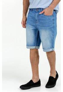 Bermuda Masculina Jeans Barra Dobrada Marisa