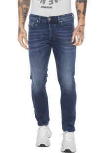 Calça Jeans Diesel Slim Tepphar Azul