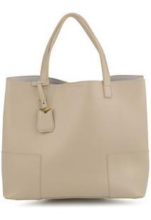 Bolsa Shopping Bag Isa Kakhi - Kakhi/Un
