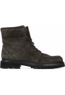 Scarosso Ankle Boot Com Cadarço - Cinza