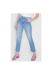 Calça Cropped Jeans Morena Rosa Slim Isadora Azul