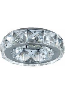 Spot Embutir Redondo Cristal 3Cmx10Cm 50W Gu10 Bella Iluminação Cromado Bivolt