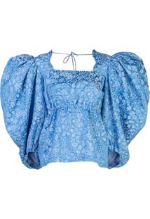 Rosie Assoulin Blusa Oversized - Azul