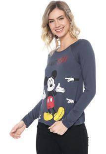 Blusa Cativa Disney Mickey Mouse Grafite