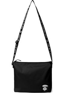 Aape By *A Bathing Ape® Logo Patch Shoulder Bag - Preto