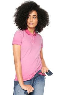 Camisa Polo Calvin Klein Jeans Estonada Rosa