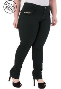 258a13134f4a2e Dafiti Calça Jeans Plus Size - Confidencial Extra Reta Verde