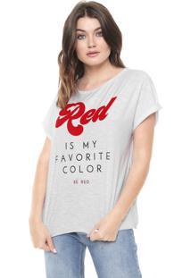 Camiseta Be Red Estampada Branca