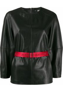 Karl Lagerfeld Blusa Com Contraste - Preto