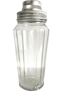 Coqueteleira Decorando Com Classe Vidro Fine Glass Cinza 500Ml Única