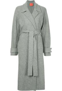 Manning Cartell Trench Coat Com Cinto - Cinza