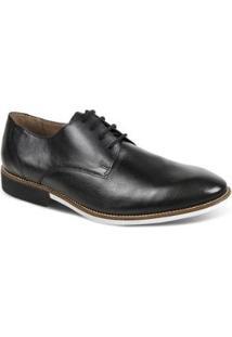Sapato Social Couro Sandro & Co Masculino - Masculino-Preto