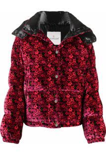 Moncler Jaqueta Matelassê Com Estampa Floral - Rosa
