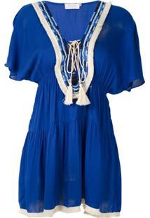 Brigitte Vestido Curto Franzido - Azul