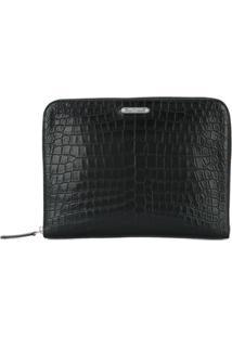 Saint Laurent Id Zipped Tablet Holder - Preto
